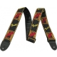 Fender  Sangle Monogrammed 5cm Black/Yellow/Red