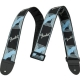 Fender  Sangle Monogrammed 5cm Black/Light Grey/Blue