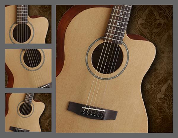 cort jade 1 jade1bop + housse - guitare acoustique